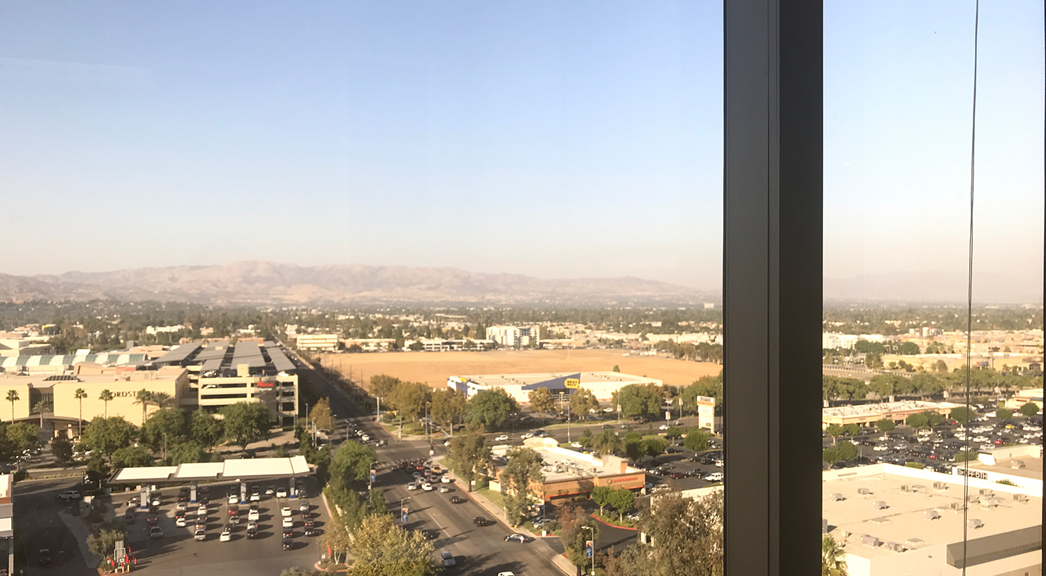 View from the Everglobe office in Woodland Hills, CA.